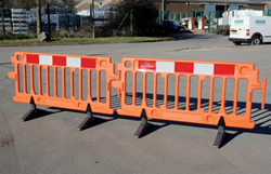 Warning Barriers from BarrierHire.com